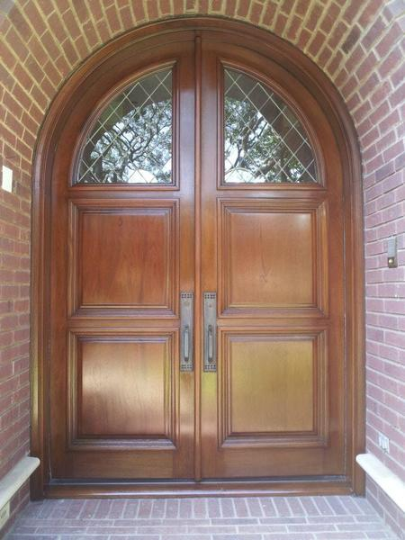 Front door refinishing after